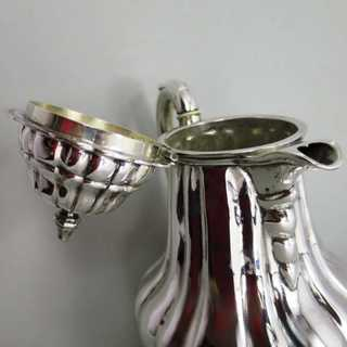 Antique victorian mocha pot in 750 silver