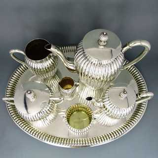 Antique silver coffee and mocha set