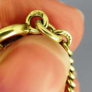Rare antique massive watch chain in 14 k yellow gold for men and women