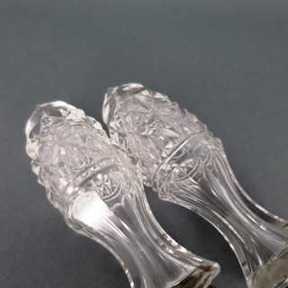 Beautiful silver plated serving cutlery with crystal glass handles engraved