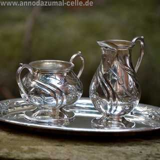 Art Deco Sterling Silber Mocca-Set