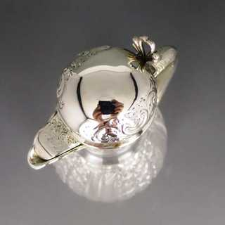 Crystal glass decanter silver plated mounting