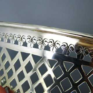 Art Deco sterling silver basket bowl Chester
