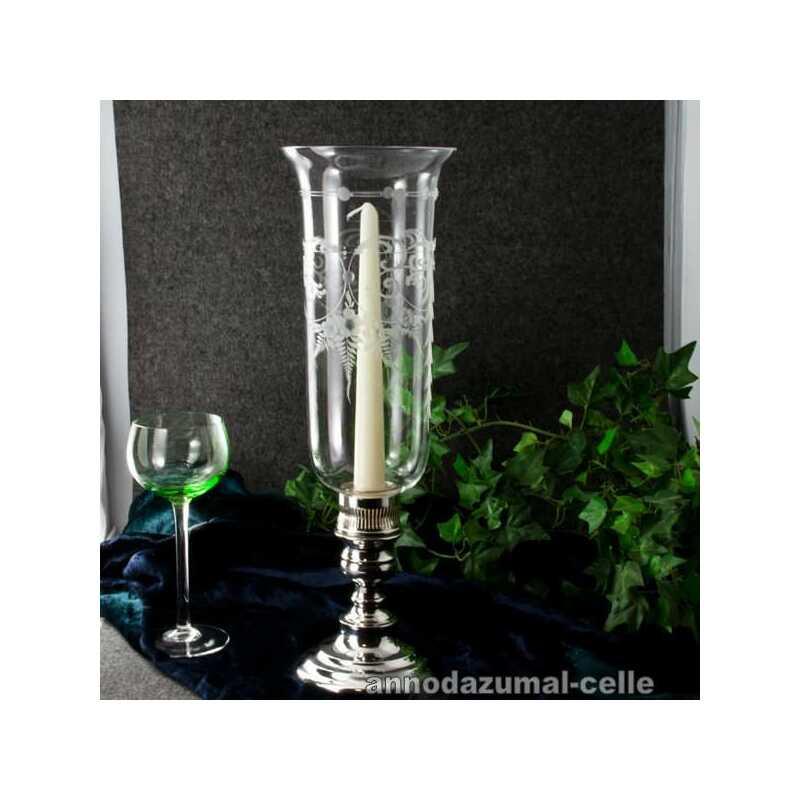 windlicht mit glasschirm und versilbertem fu 300 00. Black Bedroom Furniture Sets. Home Design Ideas