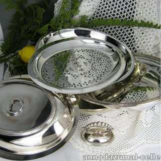 Silver plated warming dish