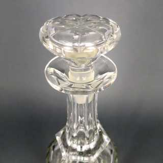 Hand blown and cut crystal glass carafe