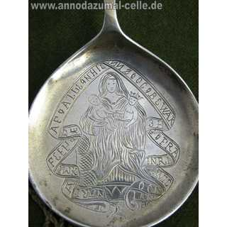 Rare antique sacral Baptism spoon in silver