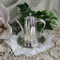 Mini coffee pot in silver