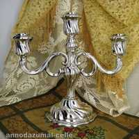 Late victorian three lights sterling silver candrelabra
