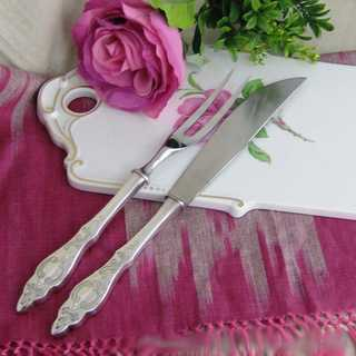 Antique silver carving cutlery with fresian pattern Otto Kropp Burgdorf Germany