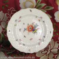Meissen porcelain soup plate with flowers