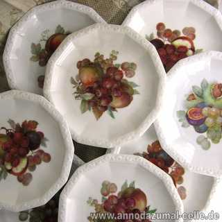 8 Plates with fruit decor porcelain Rosenthal