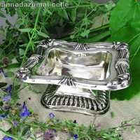 Antique 812 silver spice resp. salt bowl