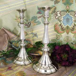 Heavy antique candlesticks in 750 silver