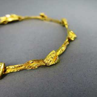 Massives Lapponia Armband in Gold