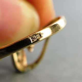 Delicate and elegant ladys  gold ring with diamonds