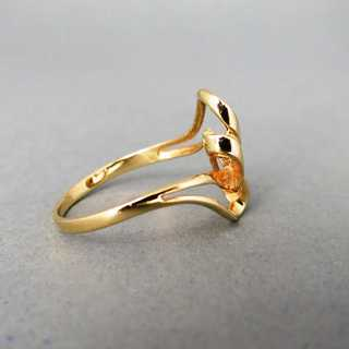 Filigraner, eleganter Damen Ring mit Brillanten in Goldfassung