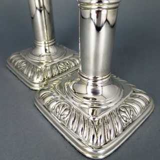 Smaller elegant silver plated candle sticks