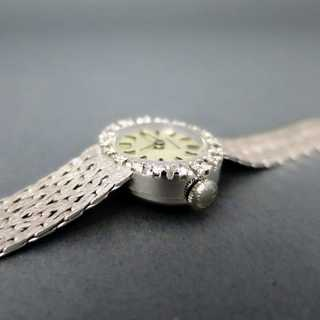 White gold ladys wrist watch with diamonds from Longines