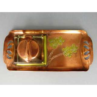 Art Nouveau Japonism writing set with inkwell
