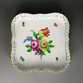 Porcelain dish with flower decor from Herend