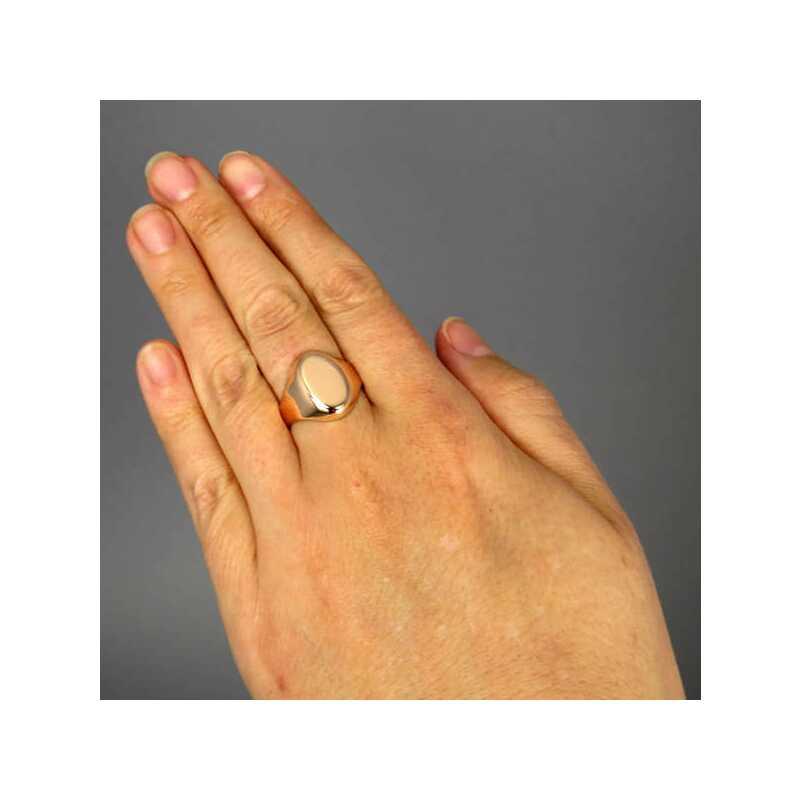 goldener ring f r monogramm siegelring f r damen und herren ungravier 320 00. Black Bedroom Furniture Sets. Home Design Ideas