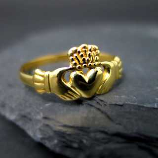 Antiker Claddagh-Ring aus Irland in Gold