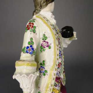 Rococo man figure porcelain Fasold Stauch