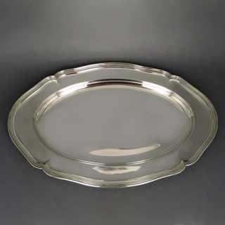 Big and oval silver tray Wilkens Bremen