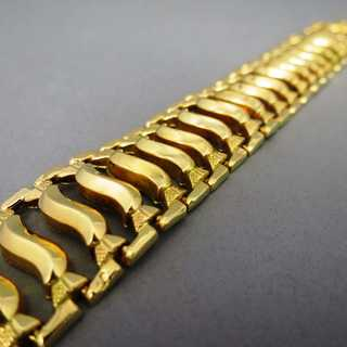 Precious link bracelet in high quality 18 k gold vintage jewelry for woman