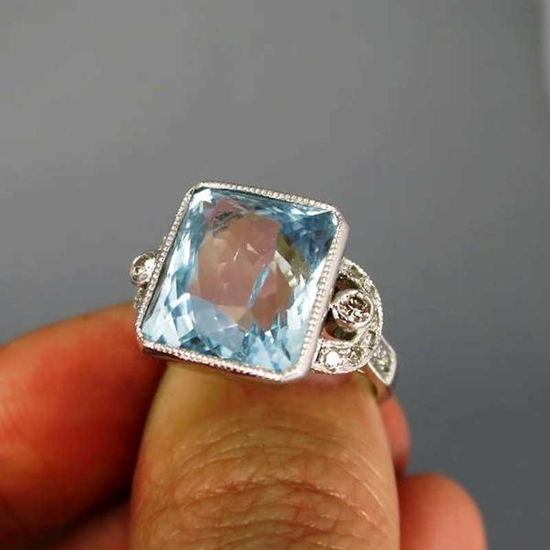 Und Ring Brillanten Mit Art Deco Aquamarin dBoeCx