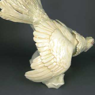 Figure of a male capercaillie resp. heather cock porcelain Ens Volkstedt Germany