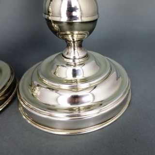 A pair of big table candlesticks Fleuron Christofle France silver plated