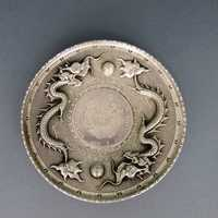 Silve plate with China silver dragon dollar from Kiang...