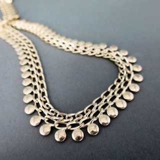 Wonderful silver chain collier for a lady Friedrich Binder Mönsheim Germany