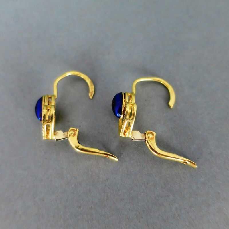 In Wunderschöne Und Mit Blauer Aus Italien Sternchen Ohrringe Gold Herz Emaille b7Yfgy6vI