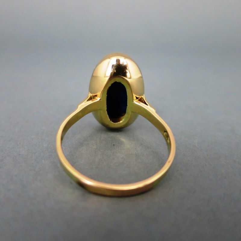 Einem Tiefblauen Damen Mit In Prächtigen Schöner Ring Gold Lapislazuli N8n0wOPyvm