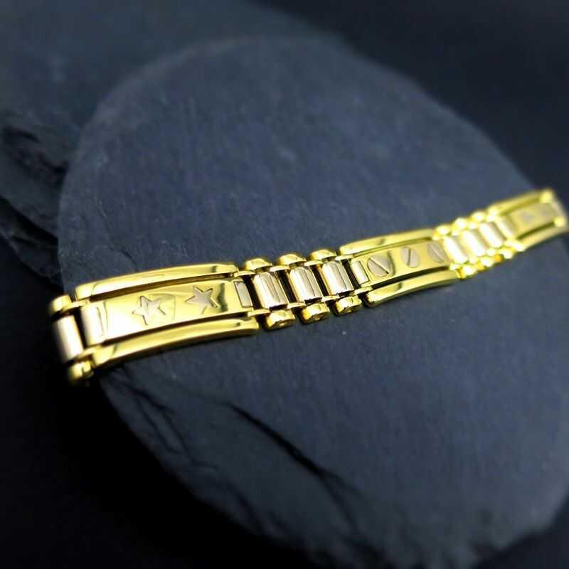 Herrenarmband In Stilvolles Herrenschmuck 750 Elegantes Gold Und Rjq3L54A