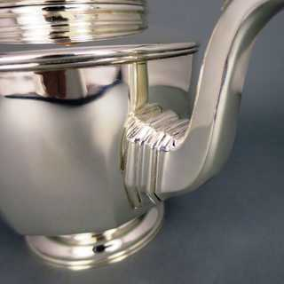 Antique Art Deco sterling silver tea pot W. Greenwood & Sons Birmingham 1929