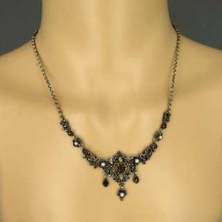 Collier in silver and gold with pearls and tourmaline Bartel & Sohn Germany