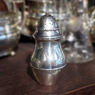 Antique Art Deco salt shaker in silver by Christian F. Heise Denmark