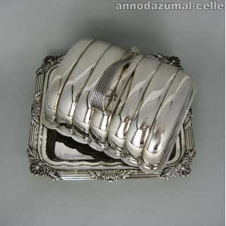 English silver plated butter dish