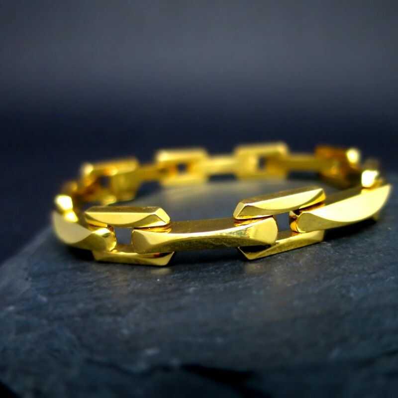 Elegantes 750 Backstein 18 1960 Armband Massivem Gold Um K Italien In Damen RAL4j5