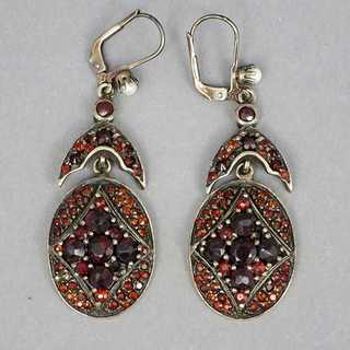 Antique garnet earrings from the second half of the 19th century