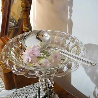Extravagant soup ladle in 830 / silver by W & SS Sorensen from Denmark