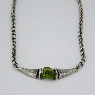 Rare necklace from the Perli company with Peridot around 1970