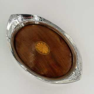 Small tray in sterling silver and wood from 1913
