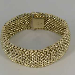 Milanese bracelet in 585 gold from the 1980s