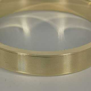 Wide Omega bracelet in solid 585 / - yellow gold