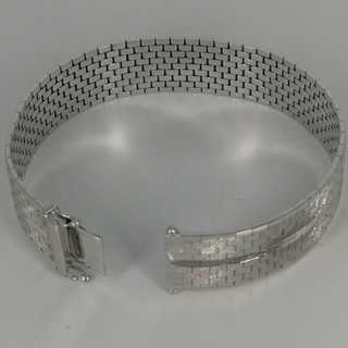 Magnificent bracelet in white gold from the 1960 / 70s